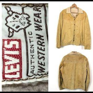 Vintage Levis Big E Suede Leather Jacket  50s 60s